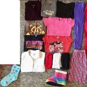 Huge Lot Girls Size 14/16 Clothes Shirts Top Skirt